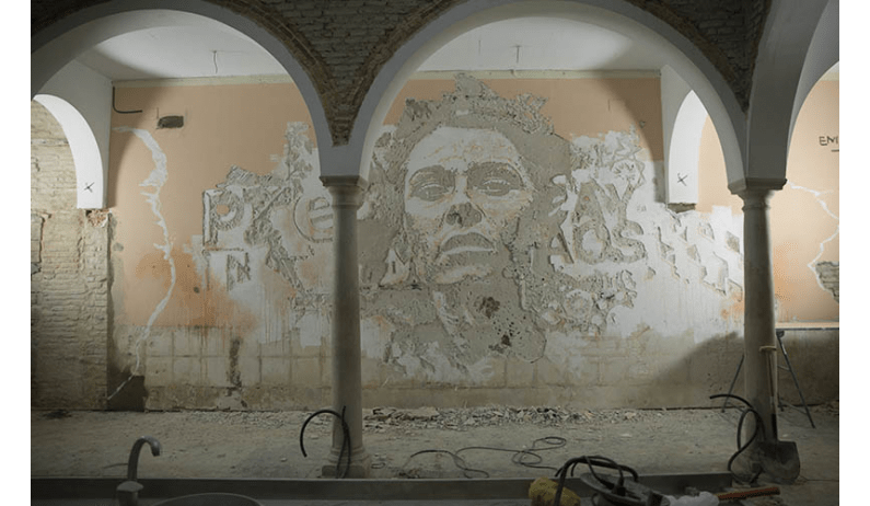 Obra Vhils en Sevilla