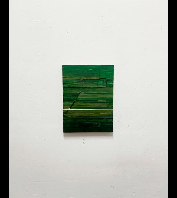 Alberto Montes Sánchez. S/T. Óleo sobre lino. 40 x 30 x 3 cm. 2021. Precio aproximado de mercado: 350 - 800 € (IVA no inc.). Precio de salida: 340€ (IVA no inc.).