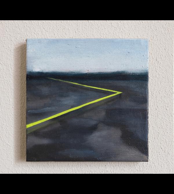 Johanna Failer. Altas Cumbres. Óleo sobre lienzo. 20 x 20 cm. 2019. Precio aproximado de mercado: 270 - 330 € (IVA no inc.). Precio de salida: 220€ (IVA no inc.).
